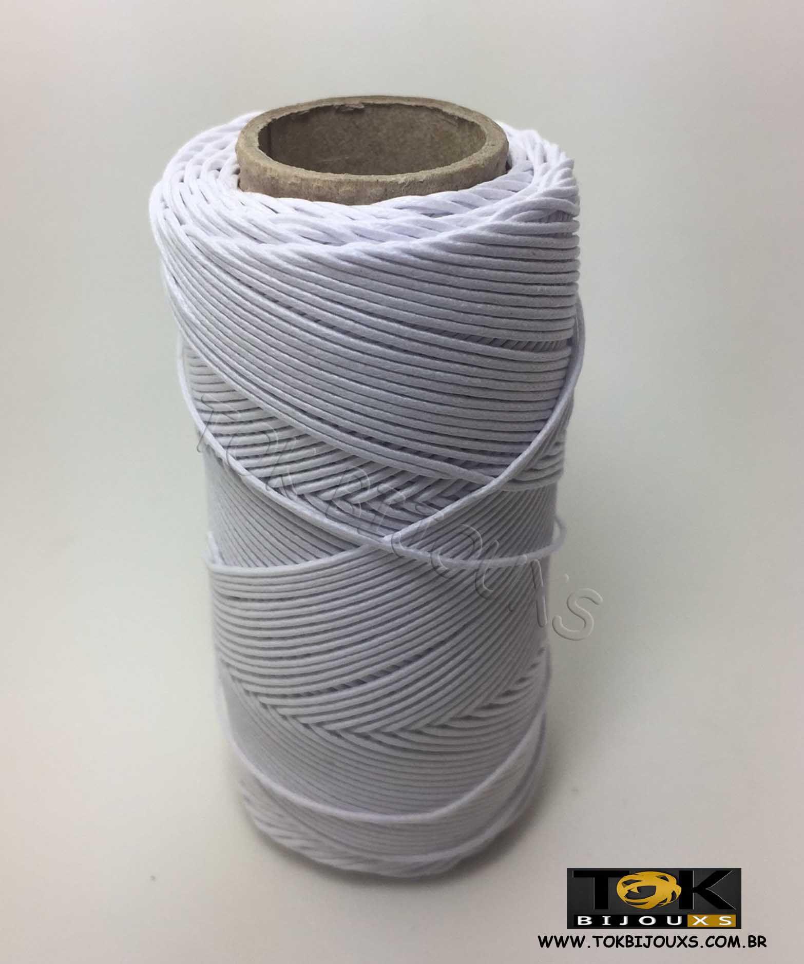 Cordão Encerado Algodão - 2mm - Branco