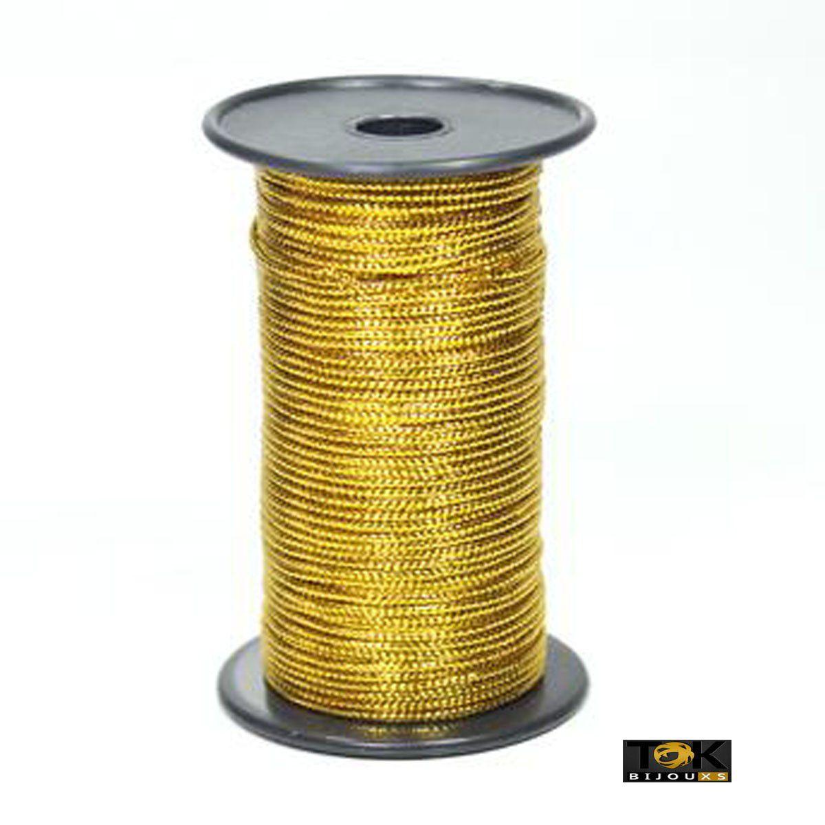 Cordão Metalizado São José 9005 R - 1mm - Dourado - 50 m