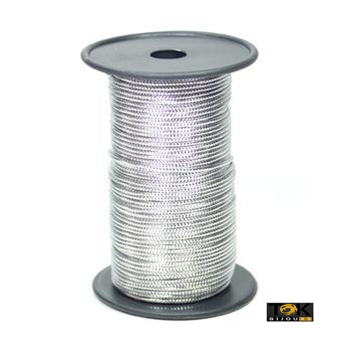 Cordão Metalizado São José 9005 R - 1mm -  Prata - 50 Metros
