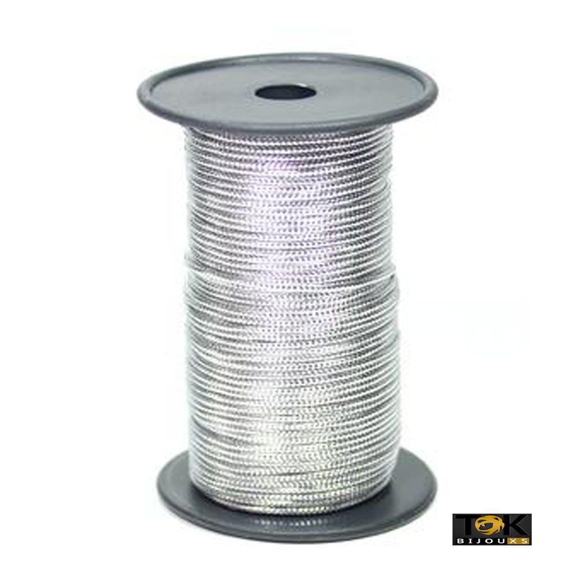 Cordão Metalizado São José 9006 R - 0,6mm -  Prata - 50 m
