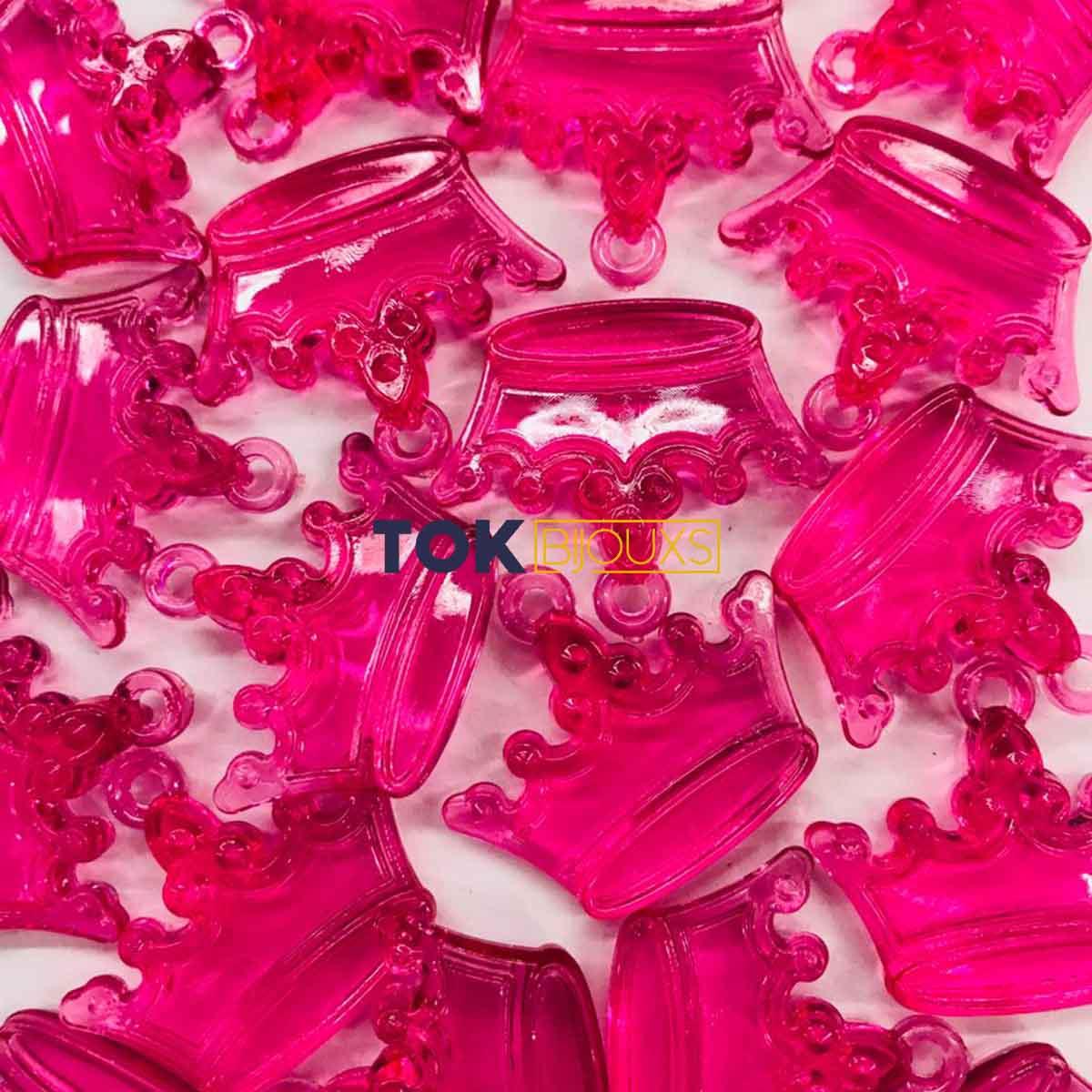 Coroa Acrilico - Pink -  Unidade