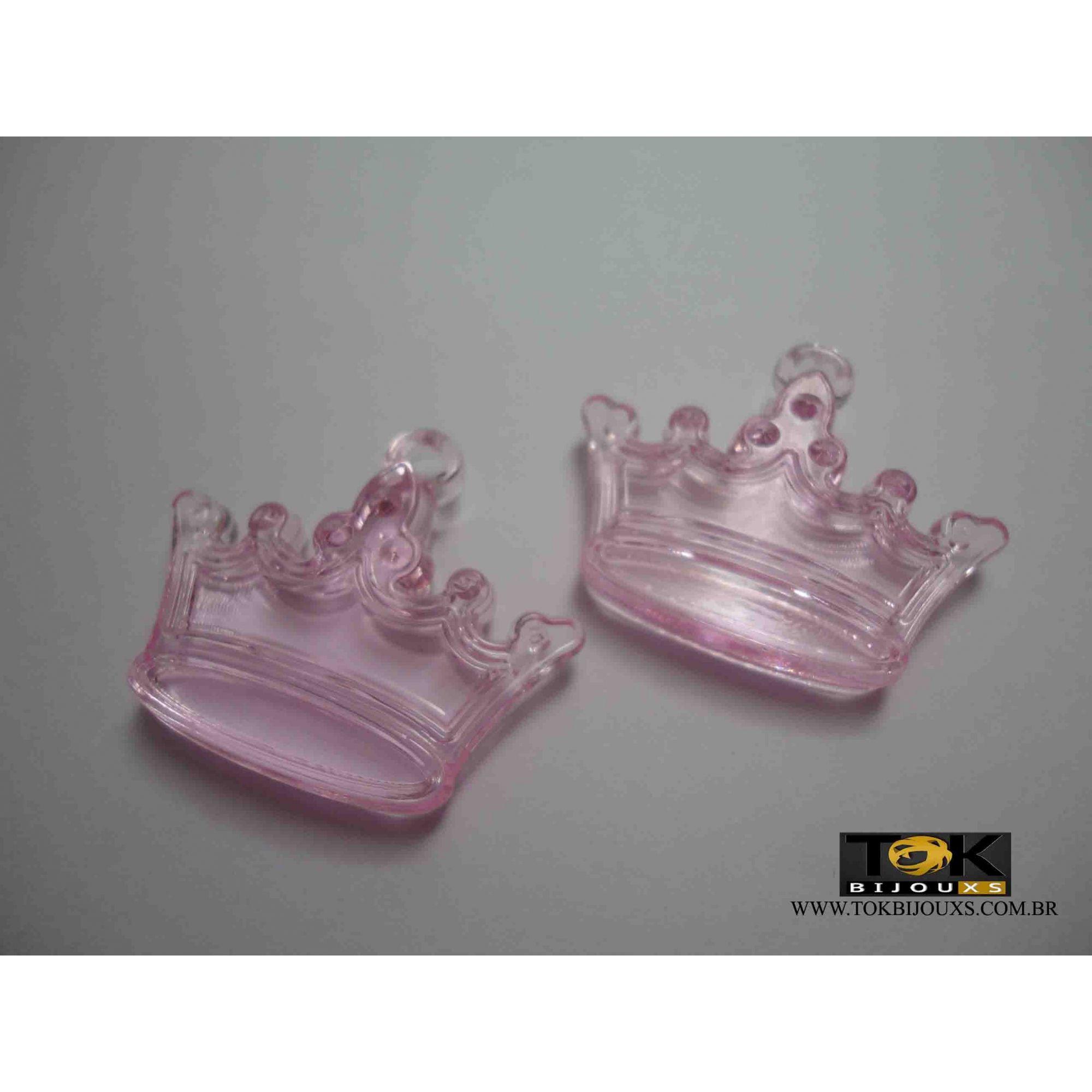 Coroa Acrilico - Rosa Bebe -  Unidade