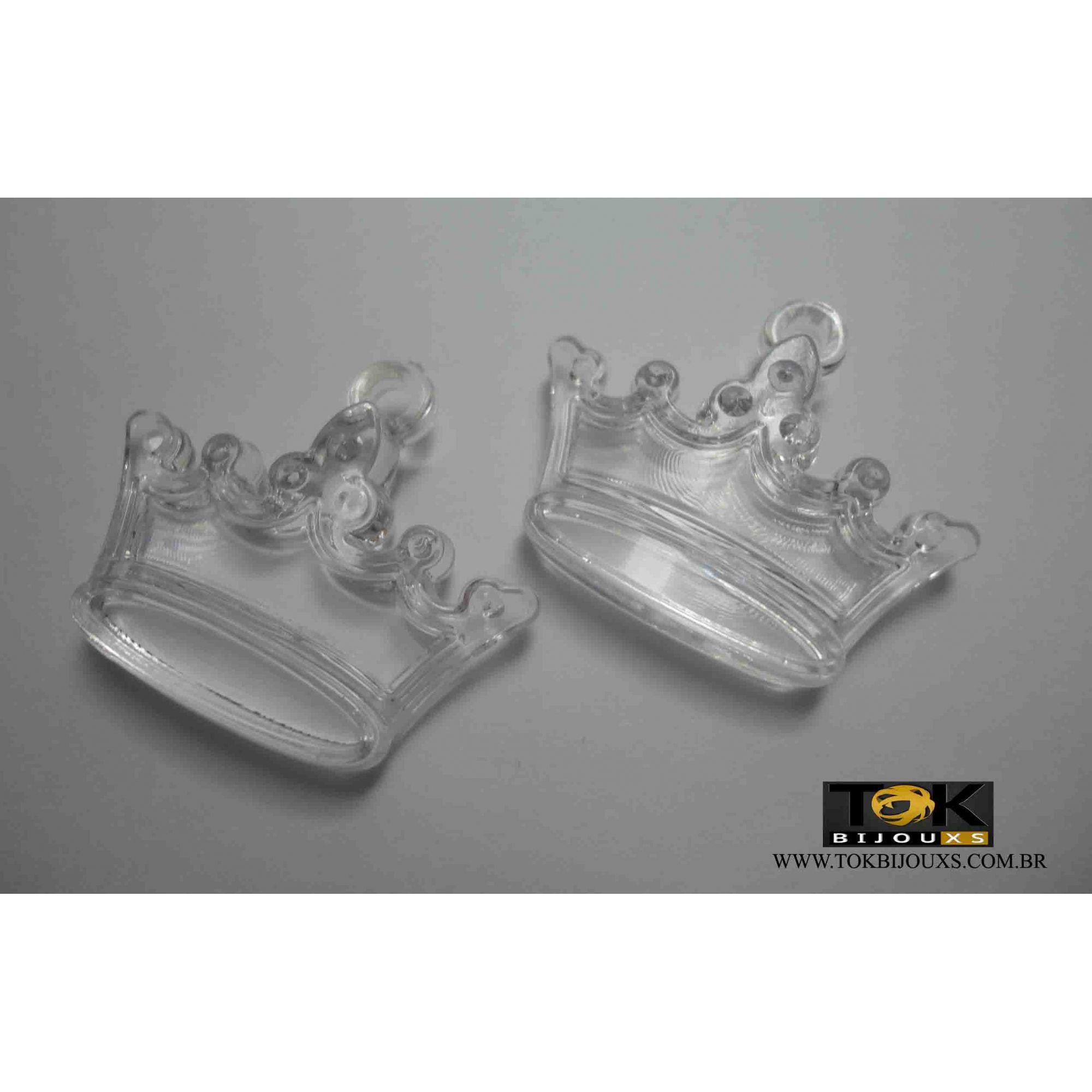 Coroa Acrilico - Transparente -  Unidade