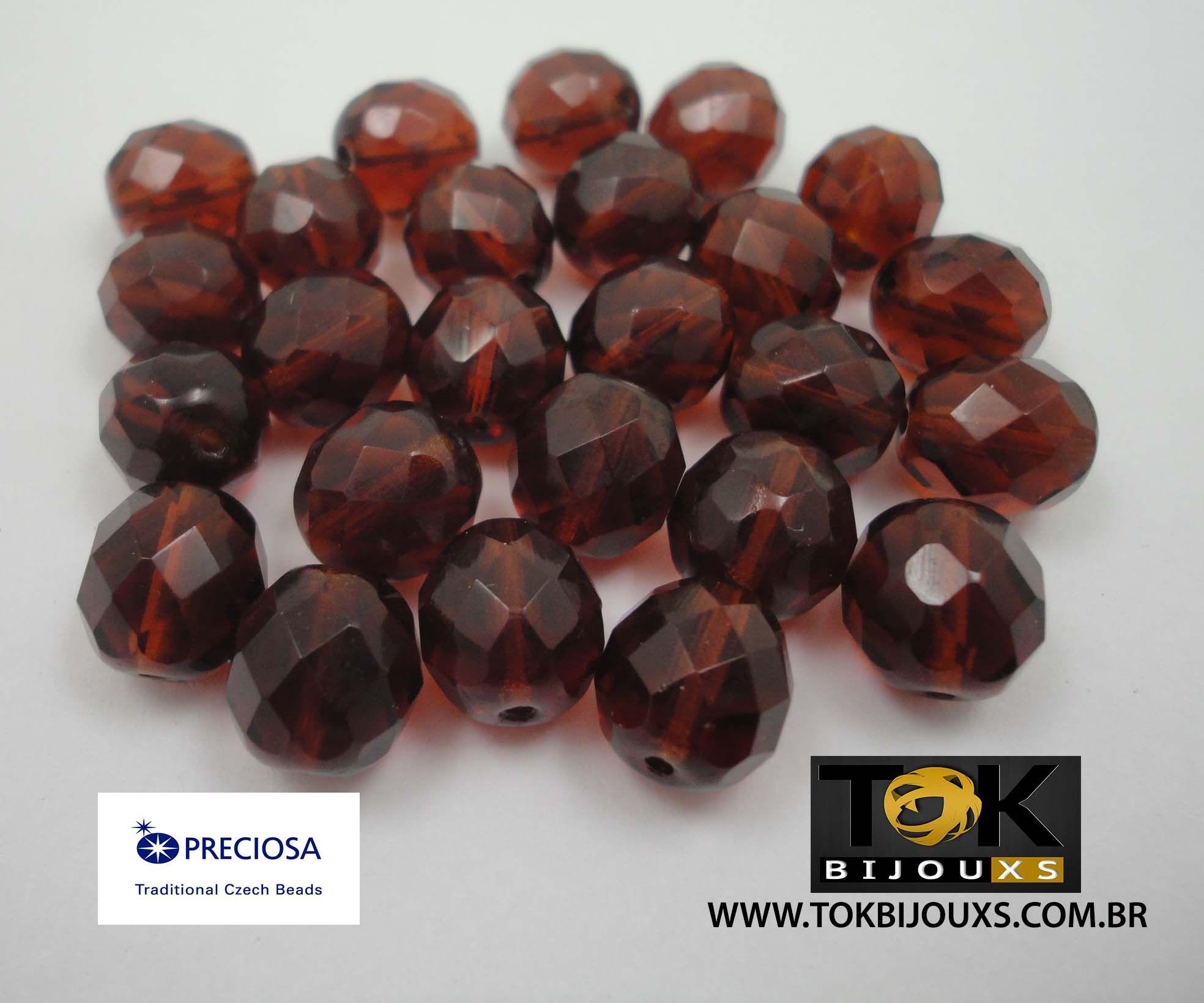 Cristal Jablonex/Preciosa® 10mm - 600  Unid - Marron Transparente
