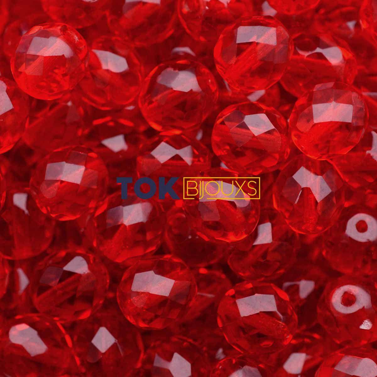 Cristal Jablonex / Preciosa ® 10mm - Vermelho Transparente - Unidade