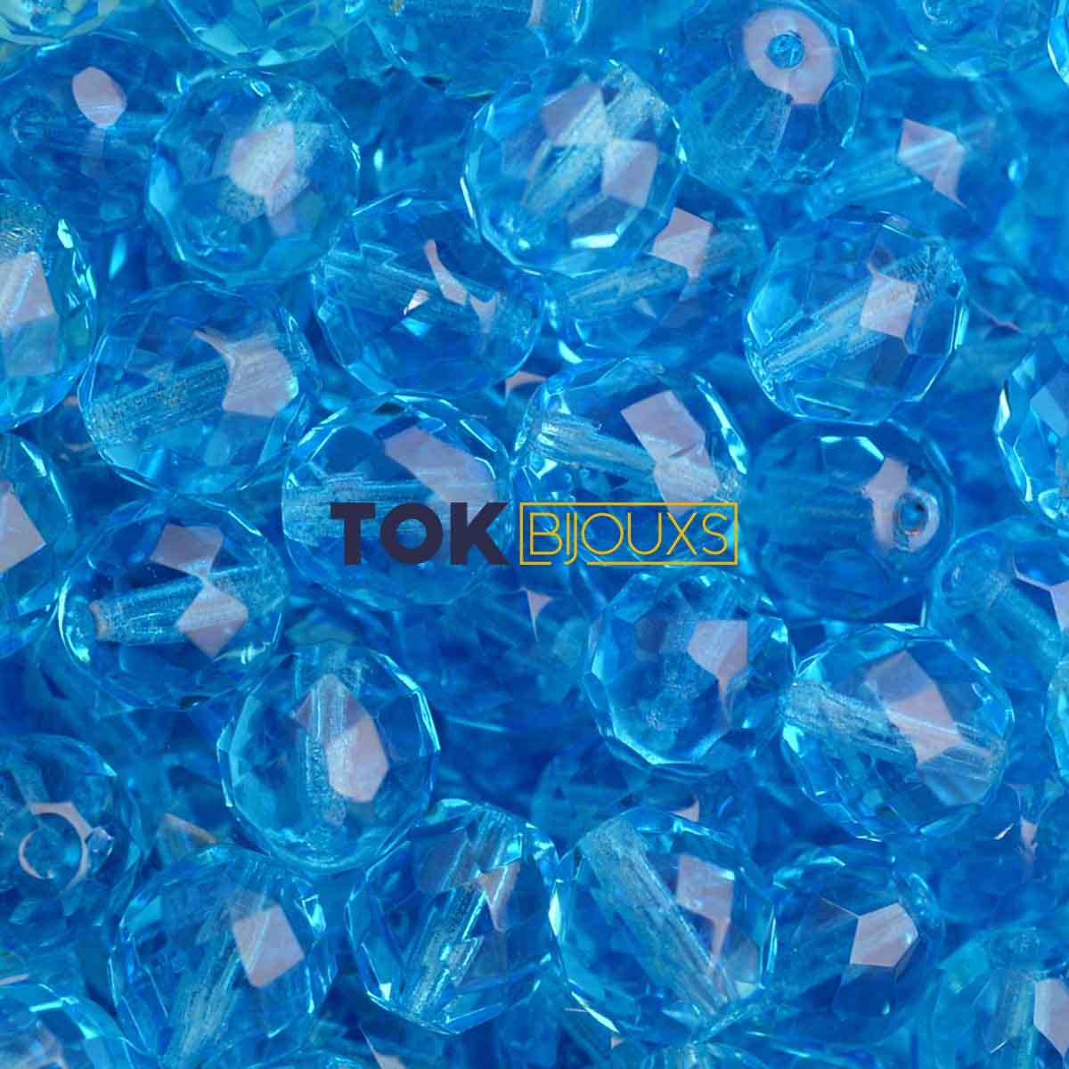 Cristal Jablonex / Preciosa ® 8mm - Azul Claro Transparente - Unidade