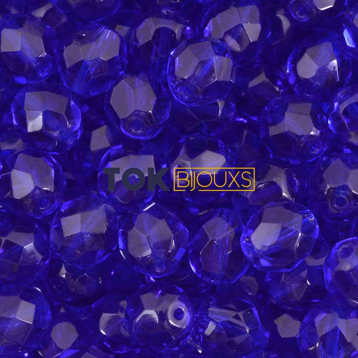 Cristal Jablonex / Preciosa ® 8mm - Azulão Transparente - Unidade