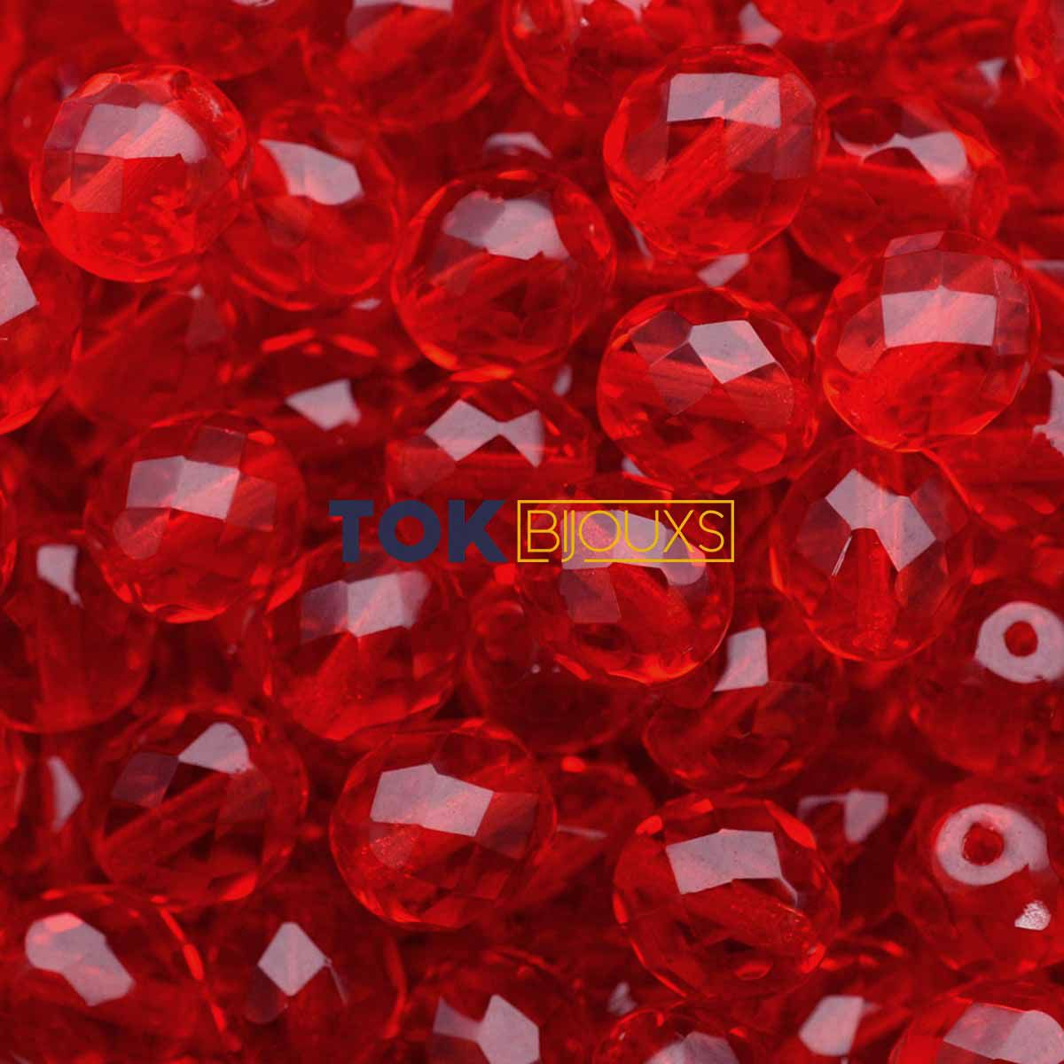 Cristal Jablonex / Preciosa ® 8mm - Vermelho Transparente - Unidade