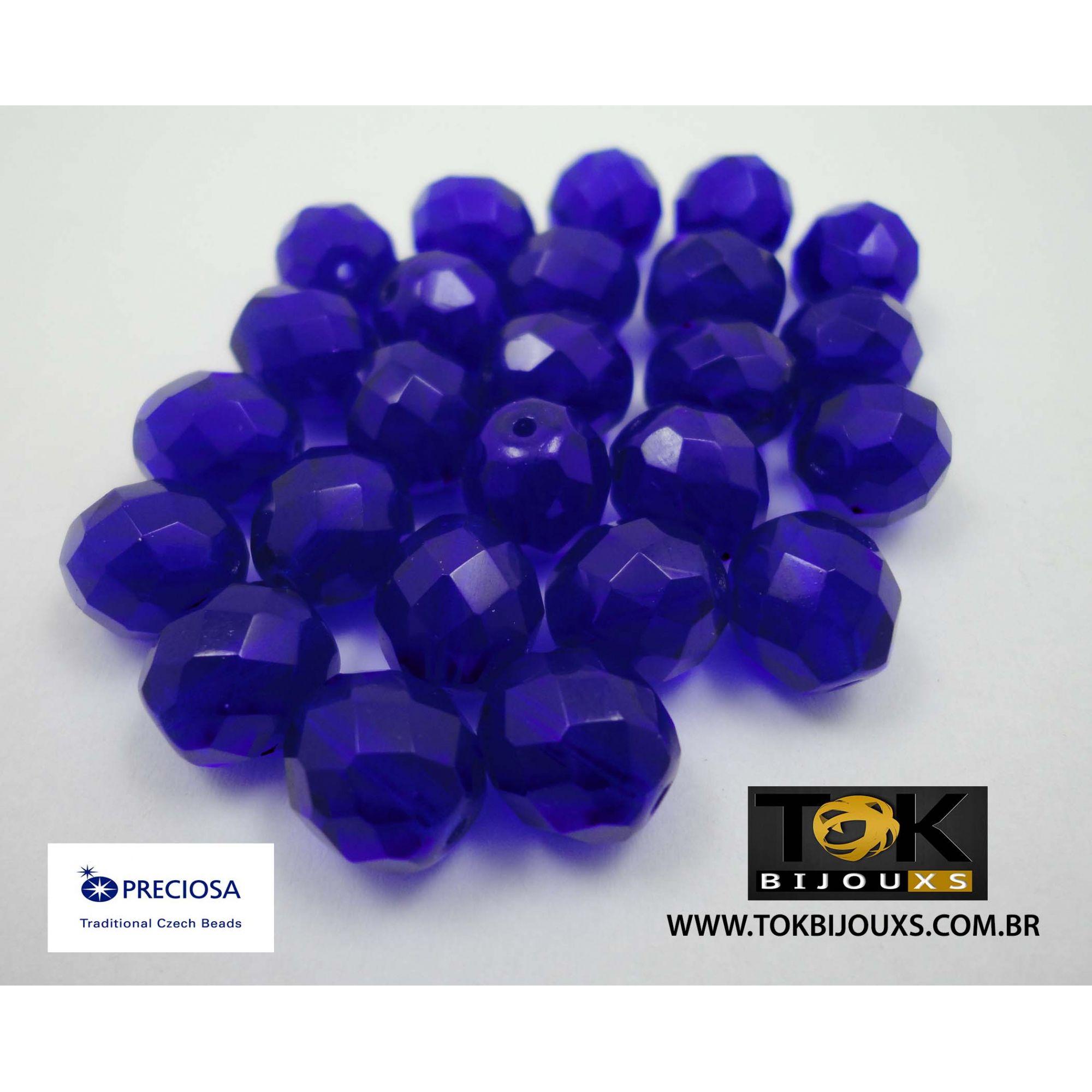 Cristal Jablonex/Preciosa® - Azulão Transparente 8mm - 25  Unid