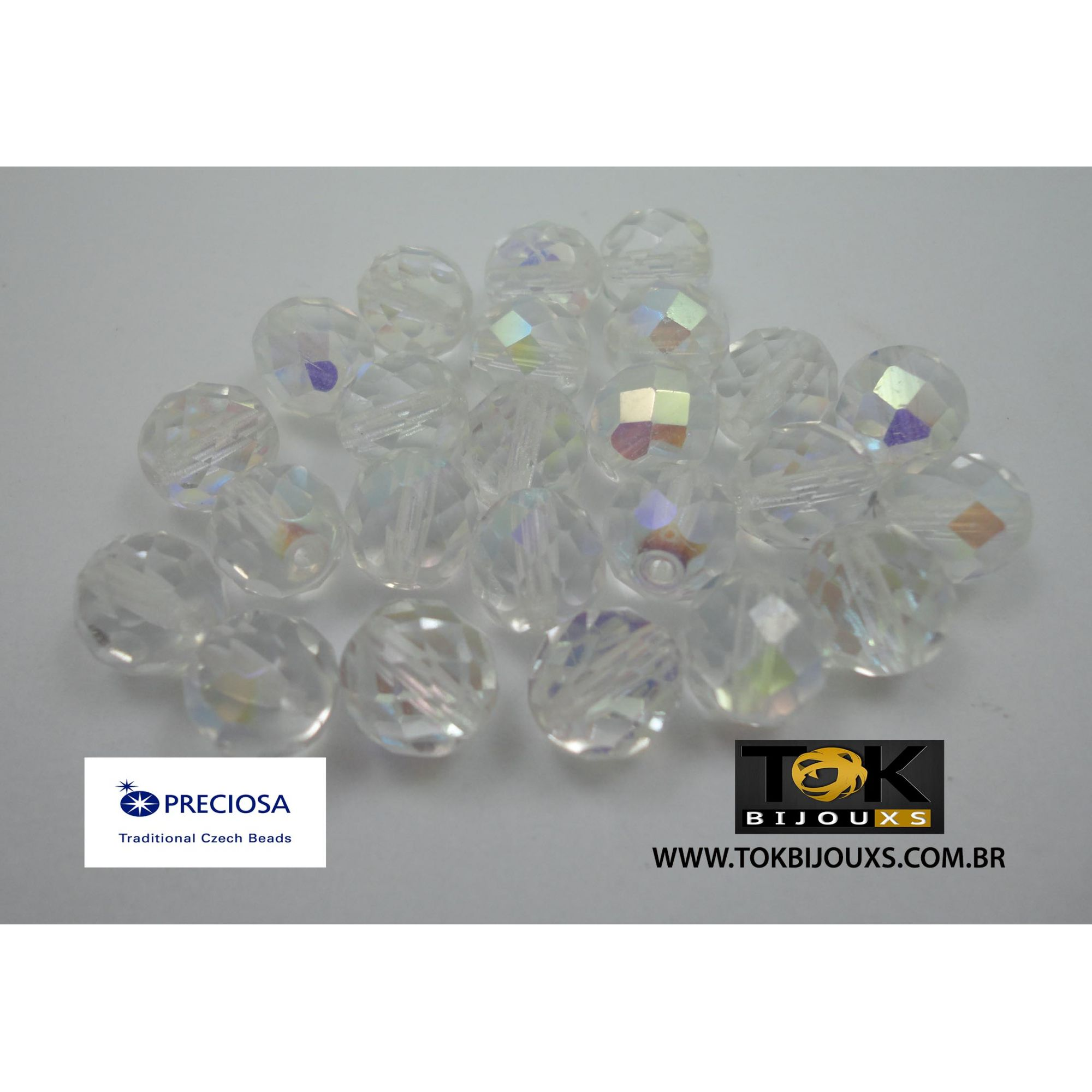 Cristal Jablonex/Preciosa® - Transparente Irisado Ab 10mm - 25  Unid