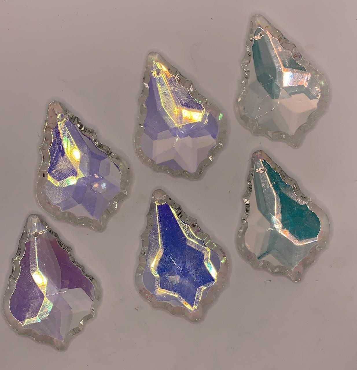 Cristal Vidro - Modelo Pingente Bacalhau - 50x35mm - Cristal Irisado - Unidade