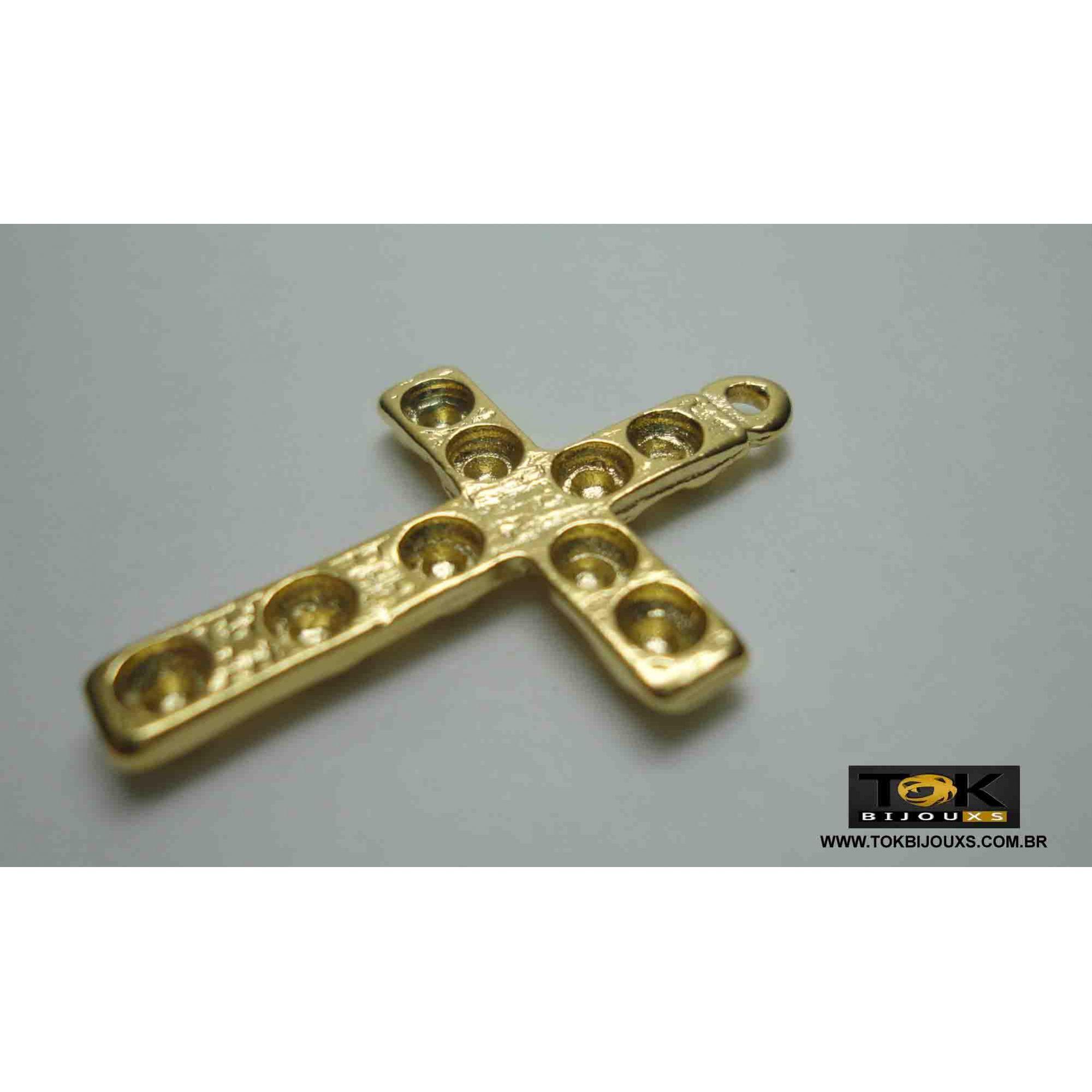 Cruz P/ Colagem Strass - Dourado - 1  Unid