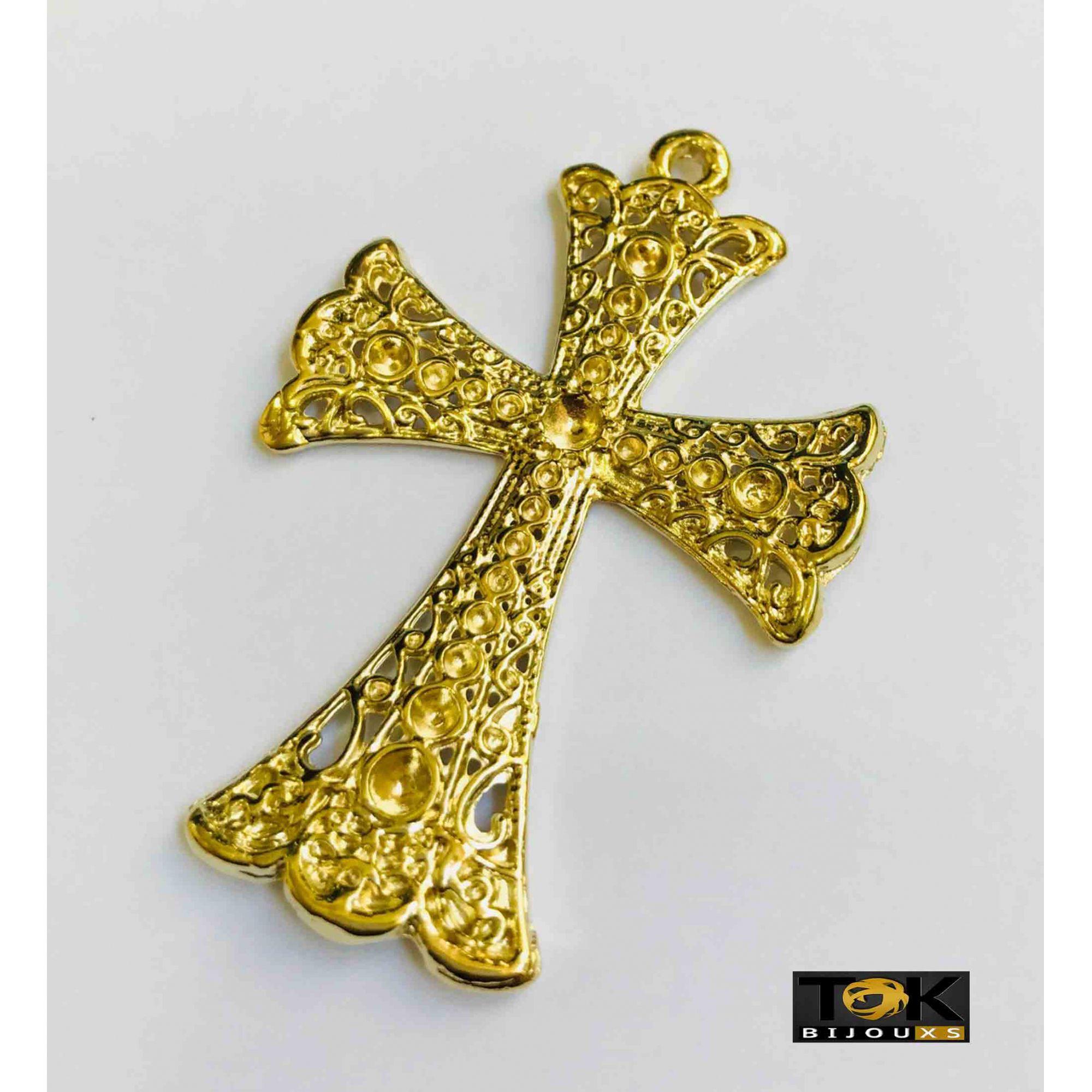 Cruz P/ Colagem Strass N.10 - Dourado - 1 Unid