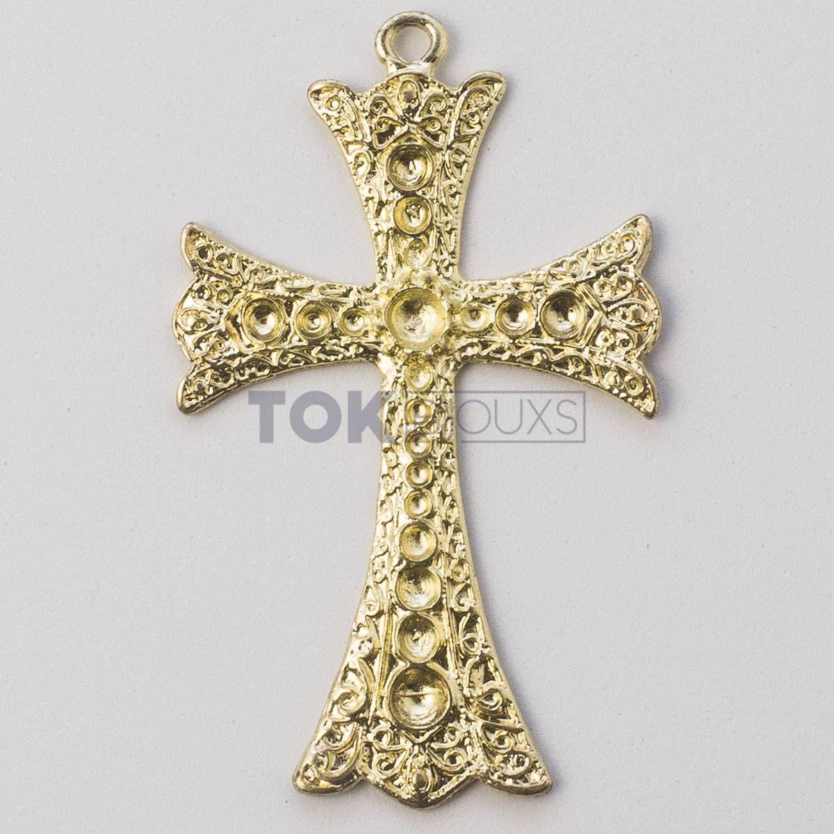 Cruz P/ Colagem Strass N.2 - Dourado - 1 Unid