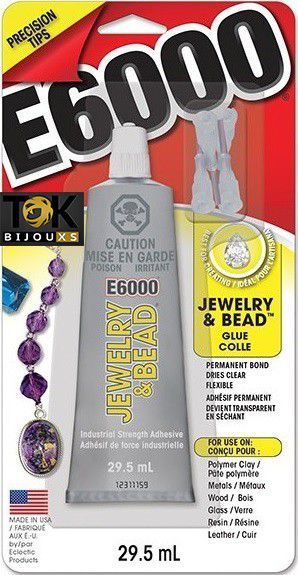 E6000® - Super Cola E-6000 Jewelry & Bead 1.0 Fl (29,5ml) C/ 4 Bicos De Precisão