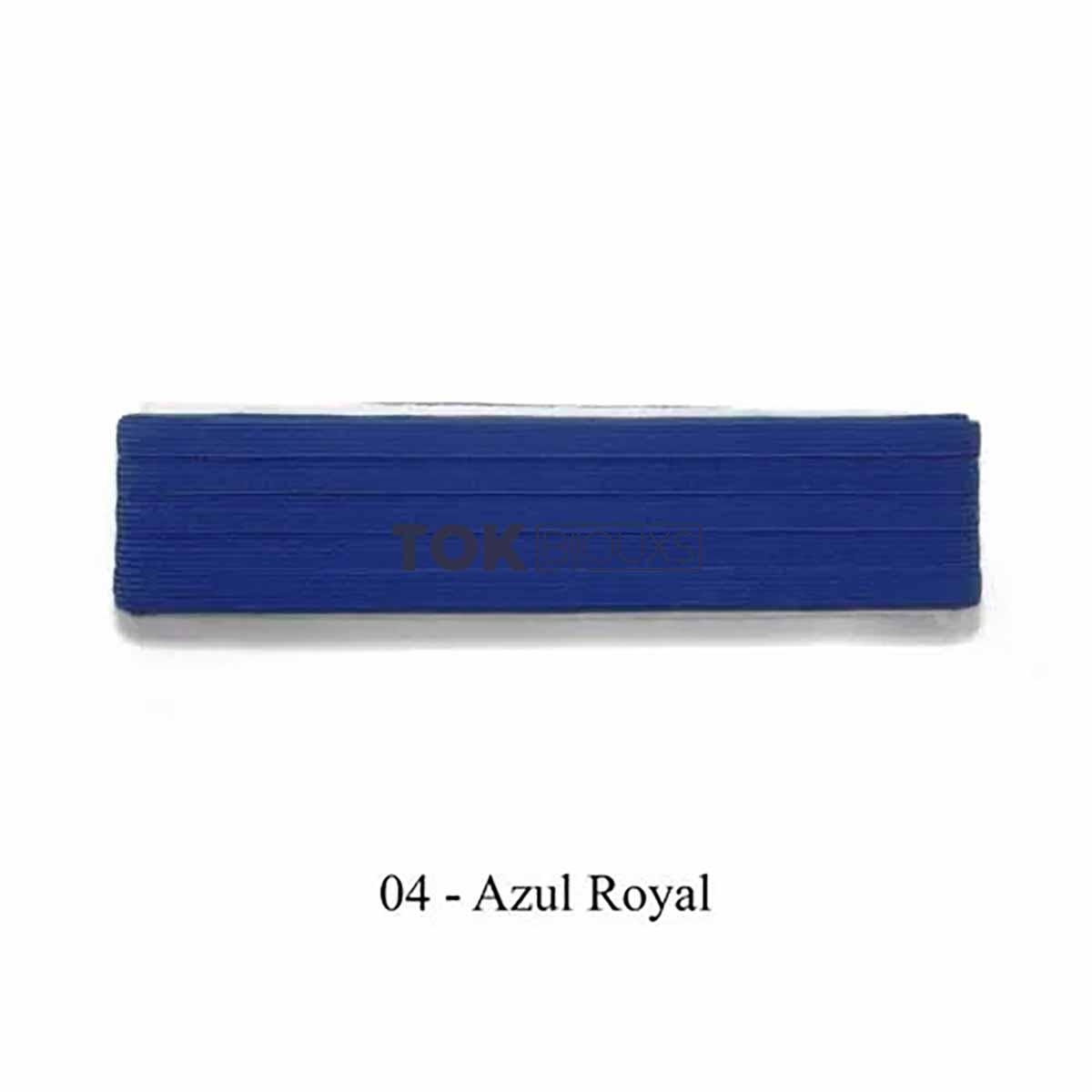 Elástico Chato - Nº12 (7mm) - Azul Royal - 10 Metros