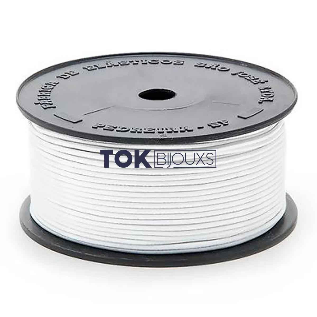 Elástico Roliço - 2R (1,0mm) - Branco - 100 Metros