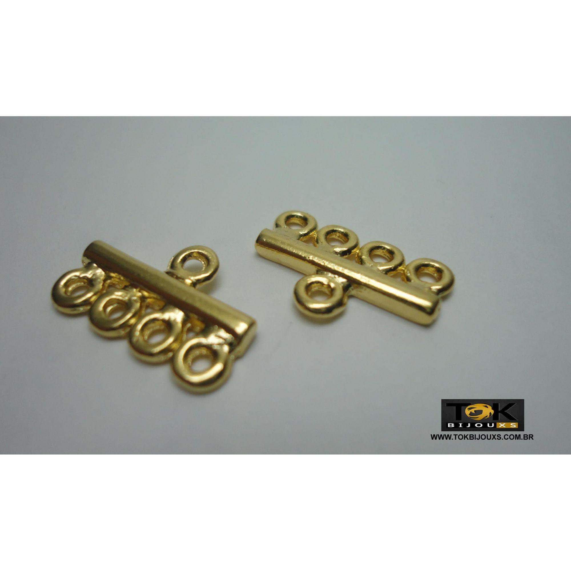 Entremeio Cabide - 4 Saídas - Dourado - 4 Unid