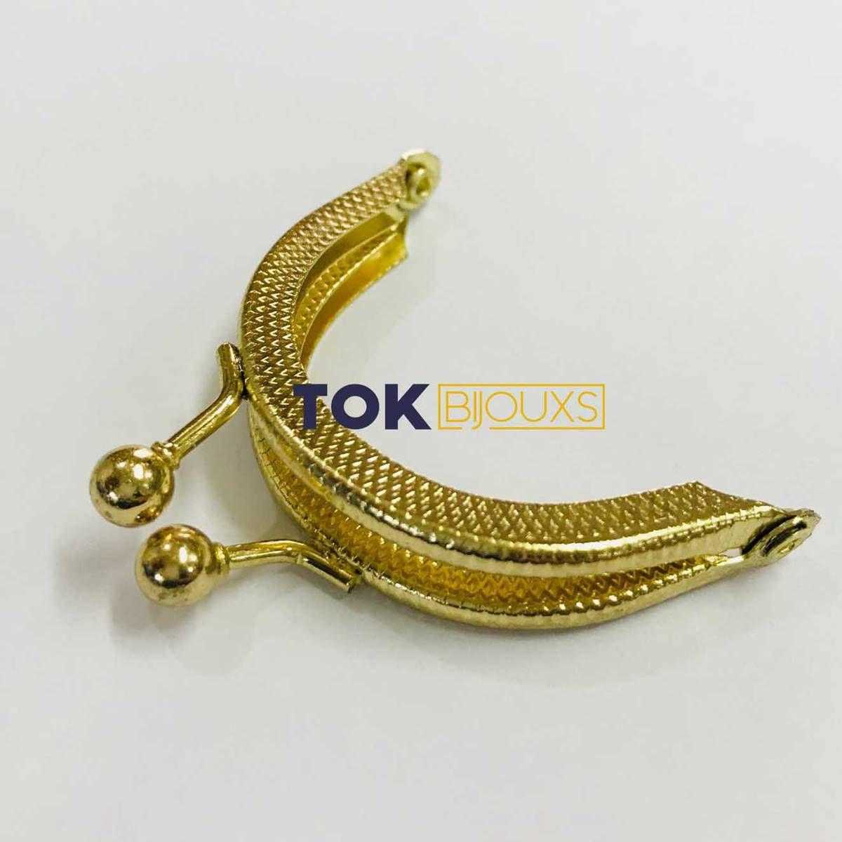 Fecho Da Vóvó Armação - Oval - 5cm - Dourado - 1 Un