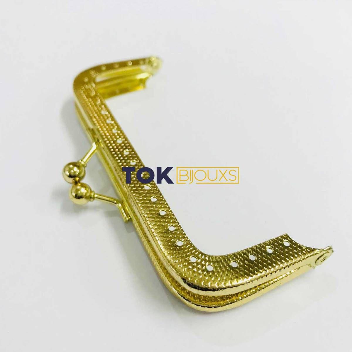 Fecho Da Vóvó Armação P/ Bordar - 10x4cm - Dourado - 1 Un