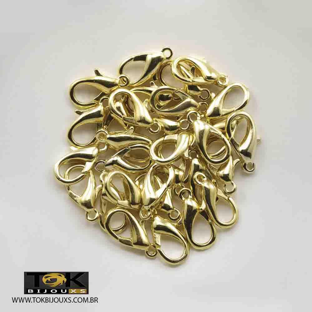 Fecho Lagosta - Dourado - 20mm - 20 un
