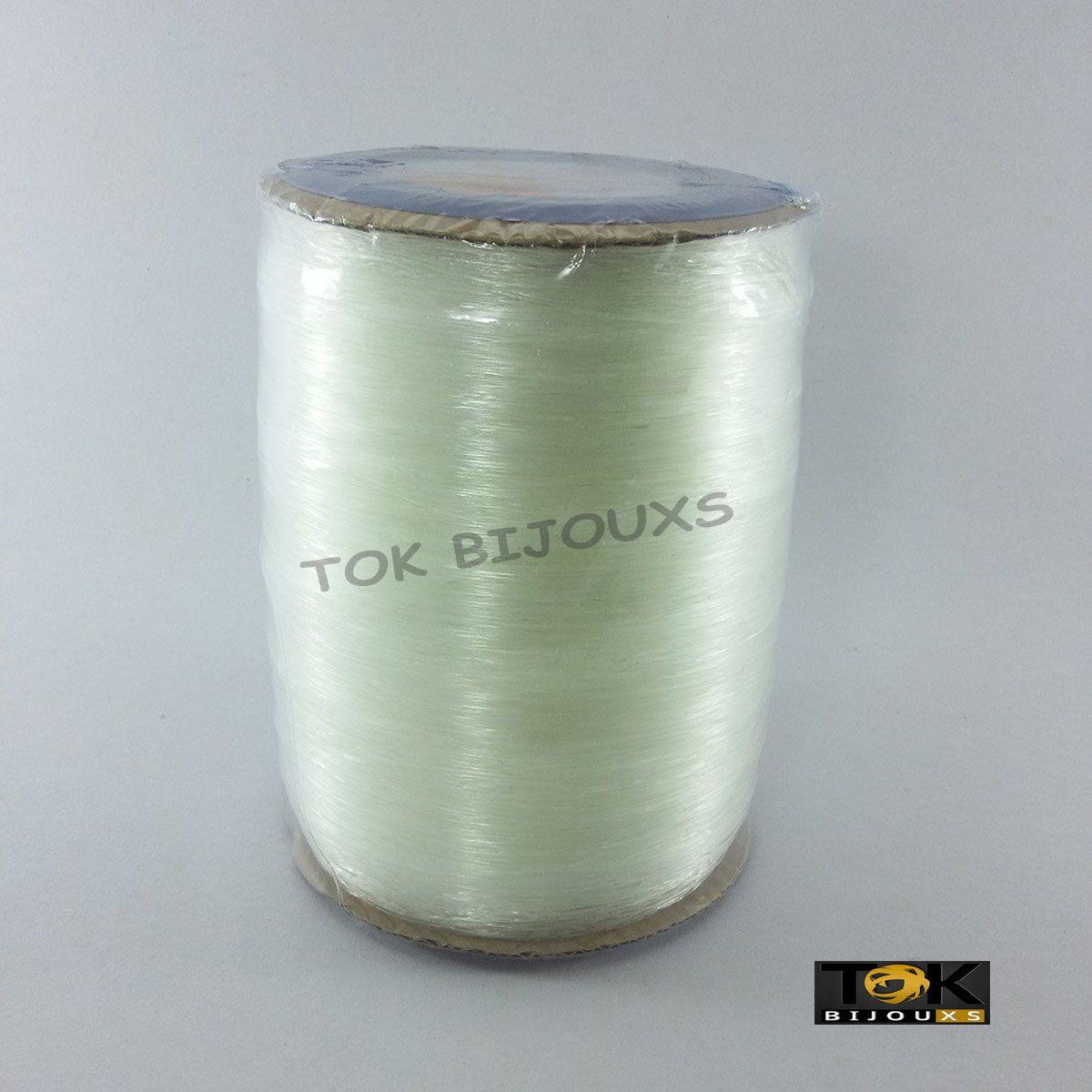 Fio De Silicone - Crystal Transparente - 1000 Metros - 0,6mm