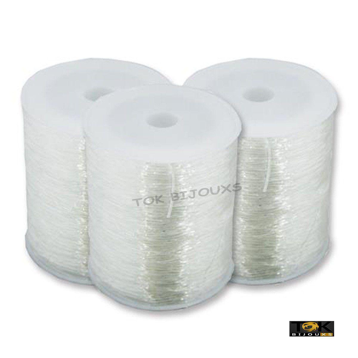 Fio De Silicone - Crystal Transparente - 100 Metros - 0,6mm