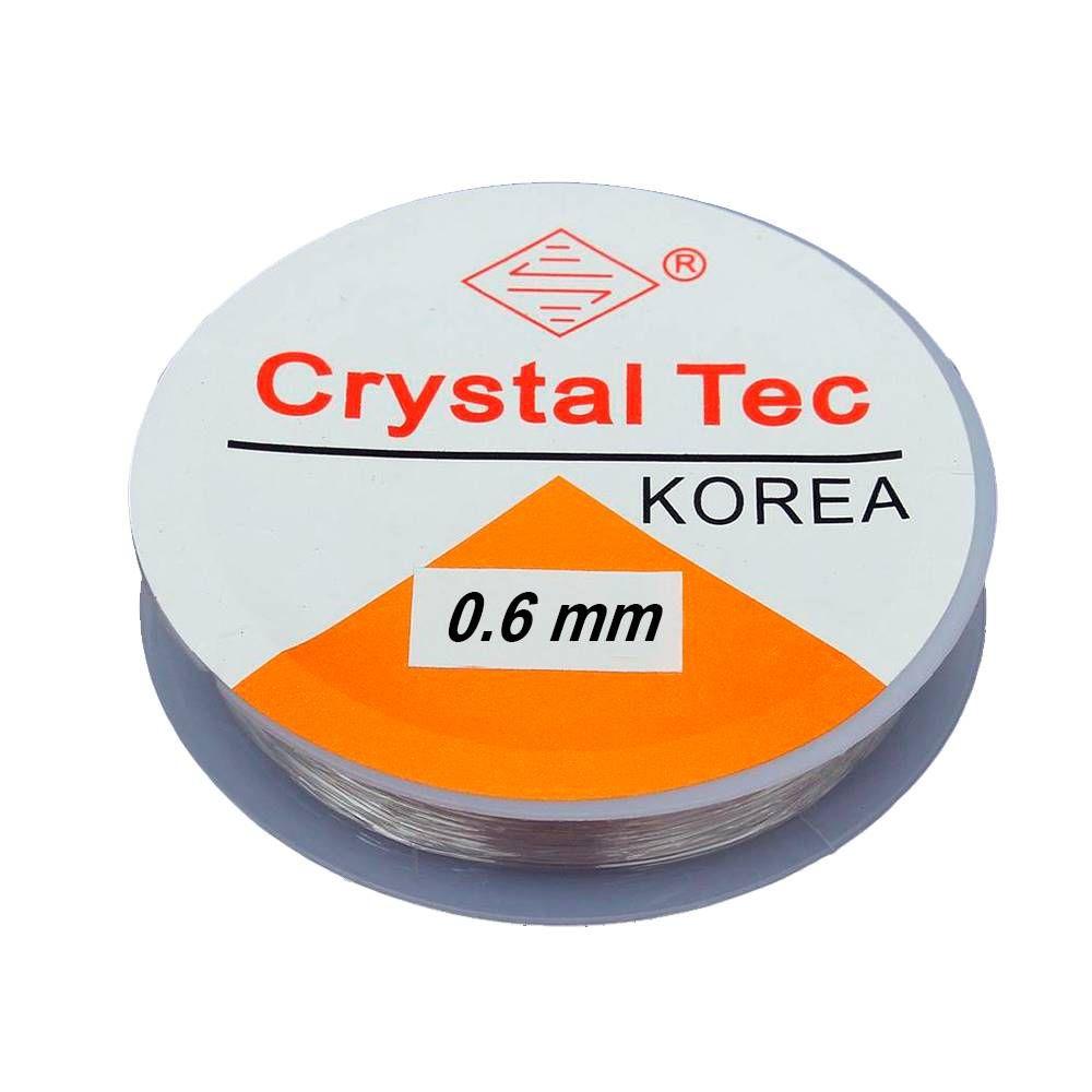 Fio De Silicone - Crystal Transparente - 10 Metros - 0,6mm