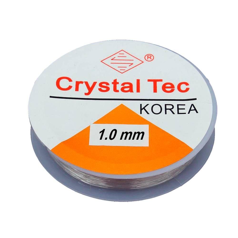 Fio De Silicone - Crystal Transparente - 10 Metros - 1,0mm