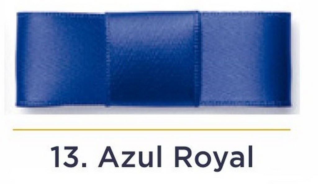 Fita Cetim N.0 - 3mm - COR (13) Azul Royal - Rolo 100 Metros