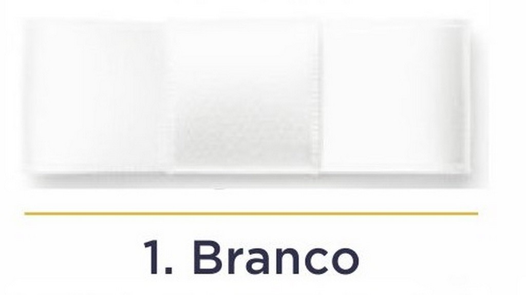 Fita Cetim N.0 - 3mm - COR (1) Branco - Rolo 100 Metros