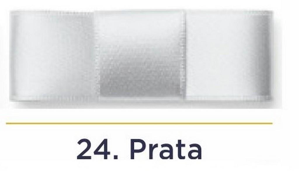 Fita Cetim N.0 - 3mm - COR (24) Prata - Rolo 100 Metros