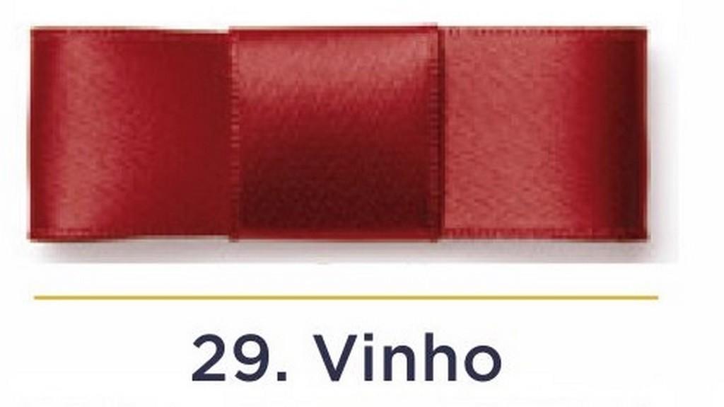Fita Cetim N.0 - 3mm - COR (29) Vinho - Rolo 100 Metros