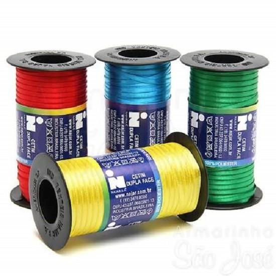 Fita Cetim N.0 - 3mm - COR (5) Verde Escuro - Rolo 100 Metros