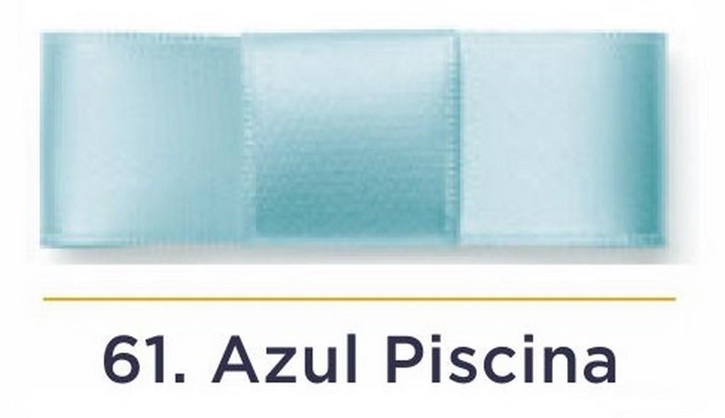 Fita Cetim N.0 - 3mm - COR (61) Azul Piscina - Rolo 100 Metros