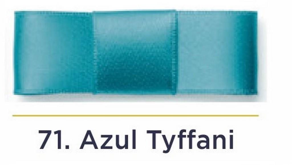 Fita Cetim N.0 - 3mm - COR (71) Azul Tyffani - Rolo 100 Metros