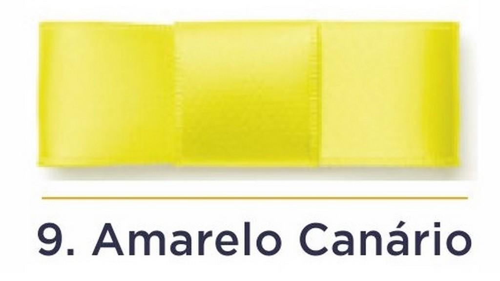 Fita Cetim N.0 - 3mm - COR (9) Amarelo Canário - Rolo 100 Metros