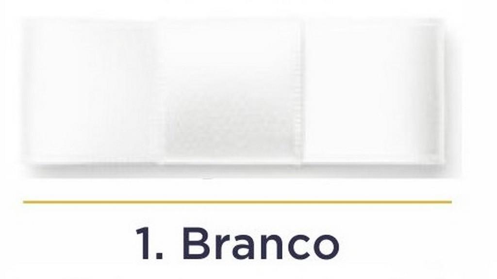 Fita Cetim N.1 - 7mm - 100 Metros - COR (1) Branco