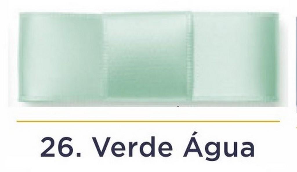 Fita Cetim N.1 - 7mm - 100 Metros - COR (26) Verde Água