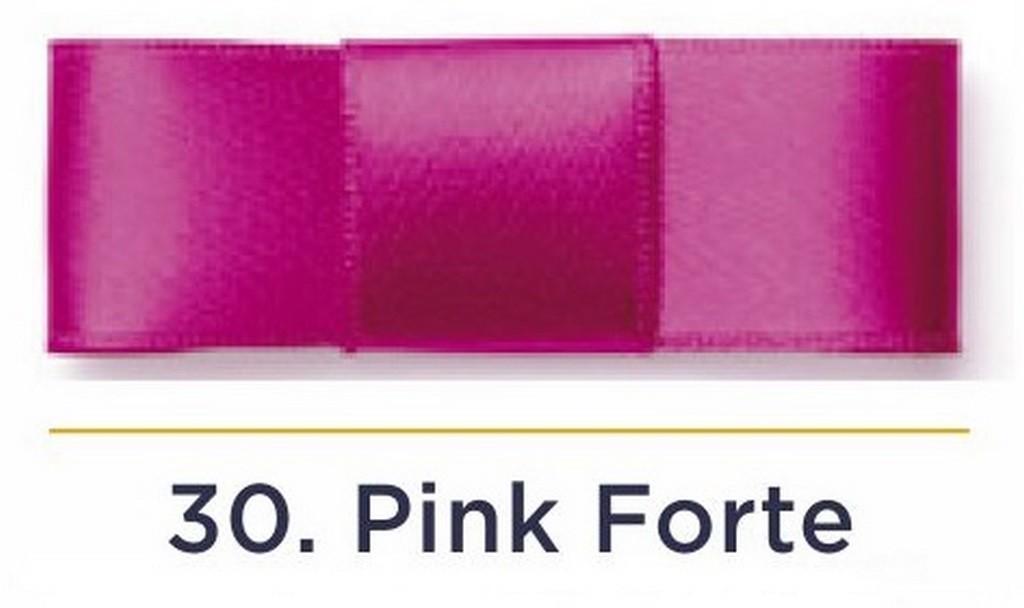 Fita Cetim N.1 - 7mm - 100 Metros - COR (30) Pink Forte