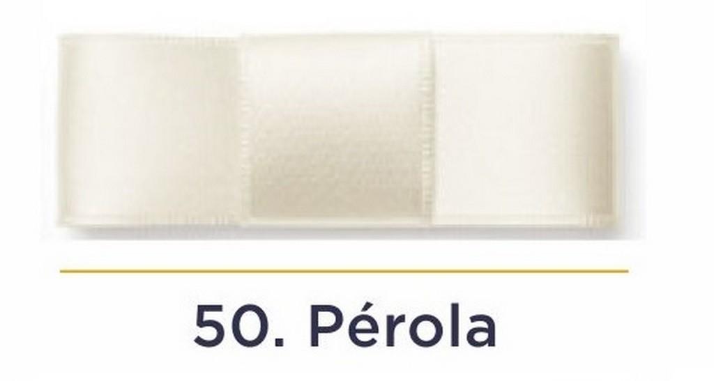 Fita Cetim N.1 - 7mm - 100 Metros - COR (50) Pérola