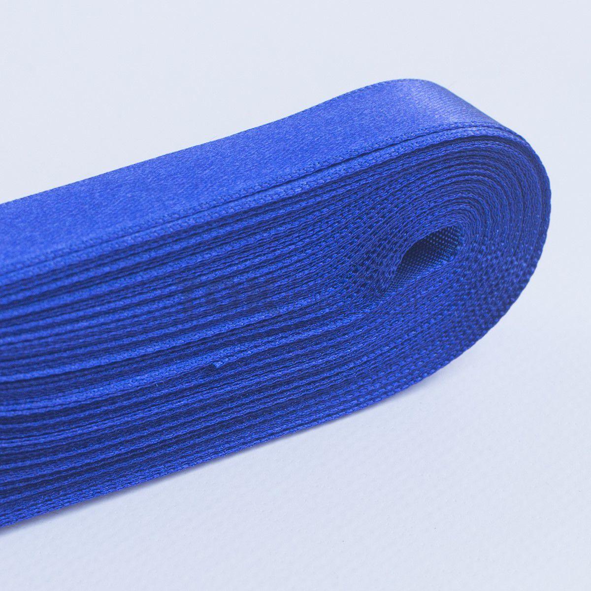 Fita Cetim N.1 - 7mm - 10 Metros - COR (13) Azul Royal