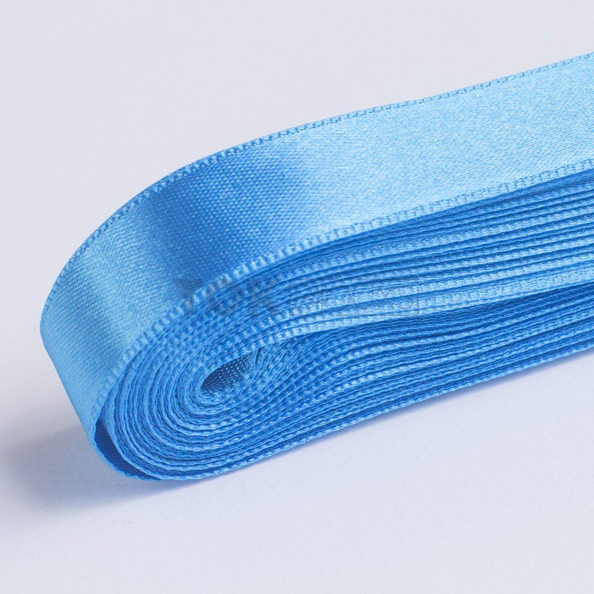 Fita Cetim N.1 - 7mm - 10 Metros - COR (21) Azul Turquesa