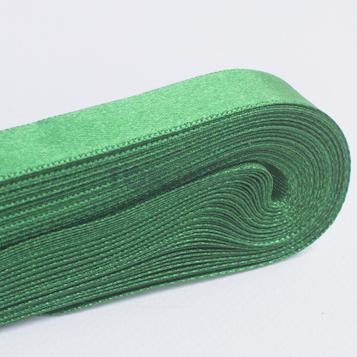 Fita Cetim N.1 - 7mm - 10 Metros - COR (23) Verde Bandeira