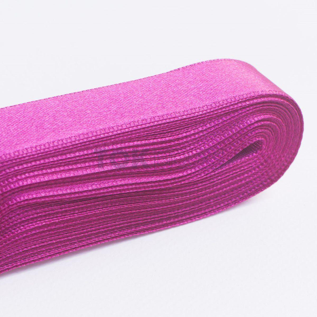 Fita Cetim N.1 - 7mm - 10 Metros - COR (30) Pink Forte