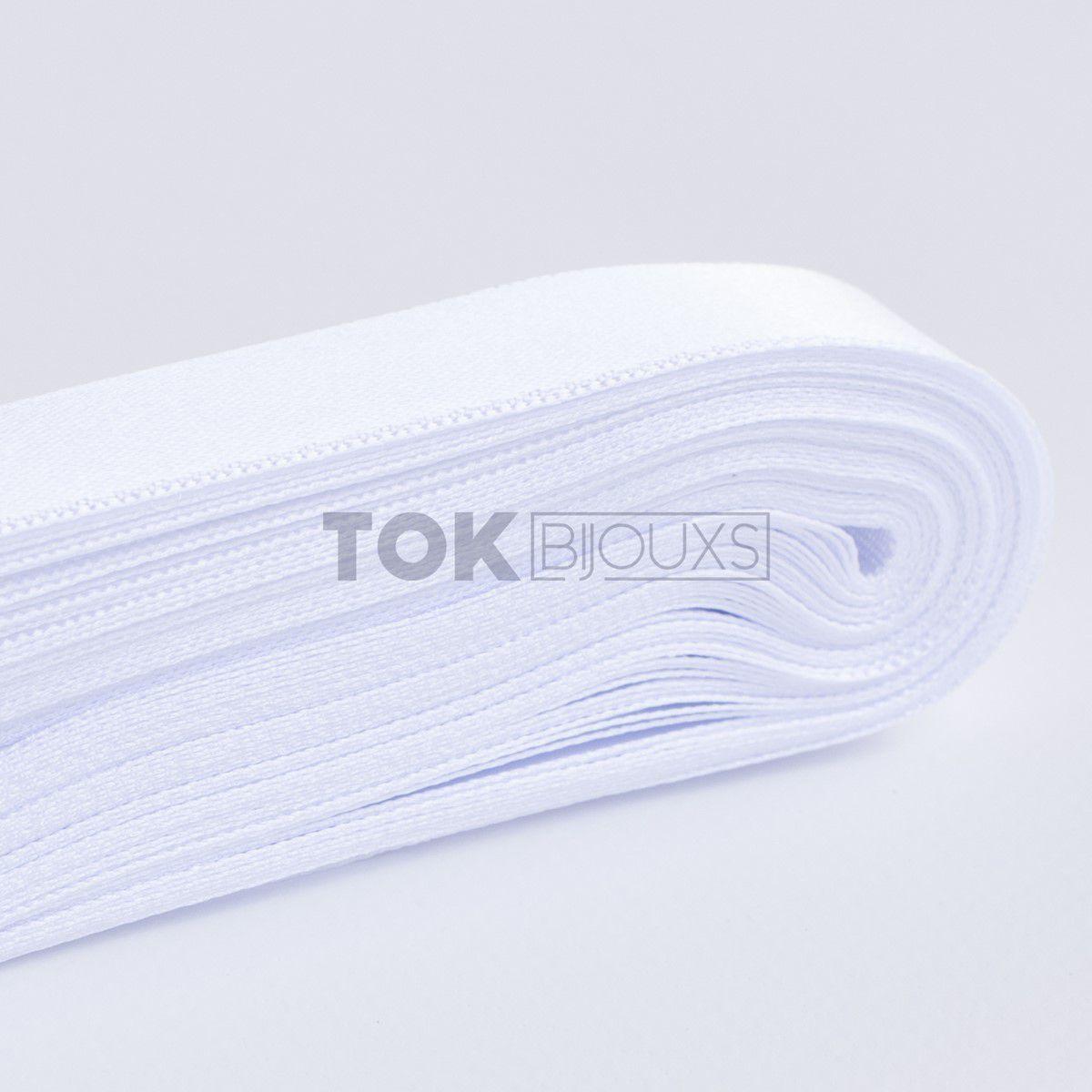 Fita Cetim N.1 - 7mm - Branco (Cor 1) - 10 Metros