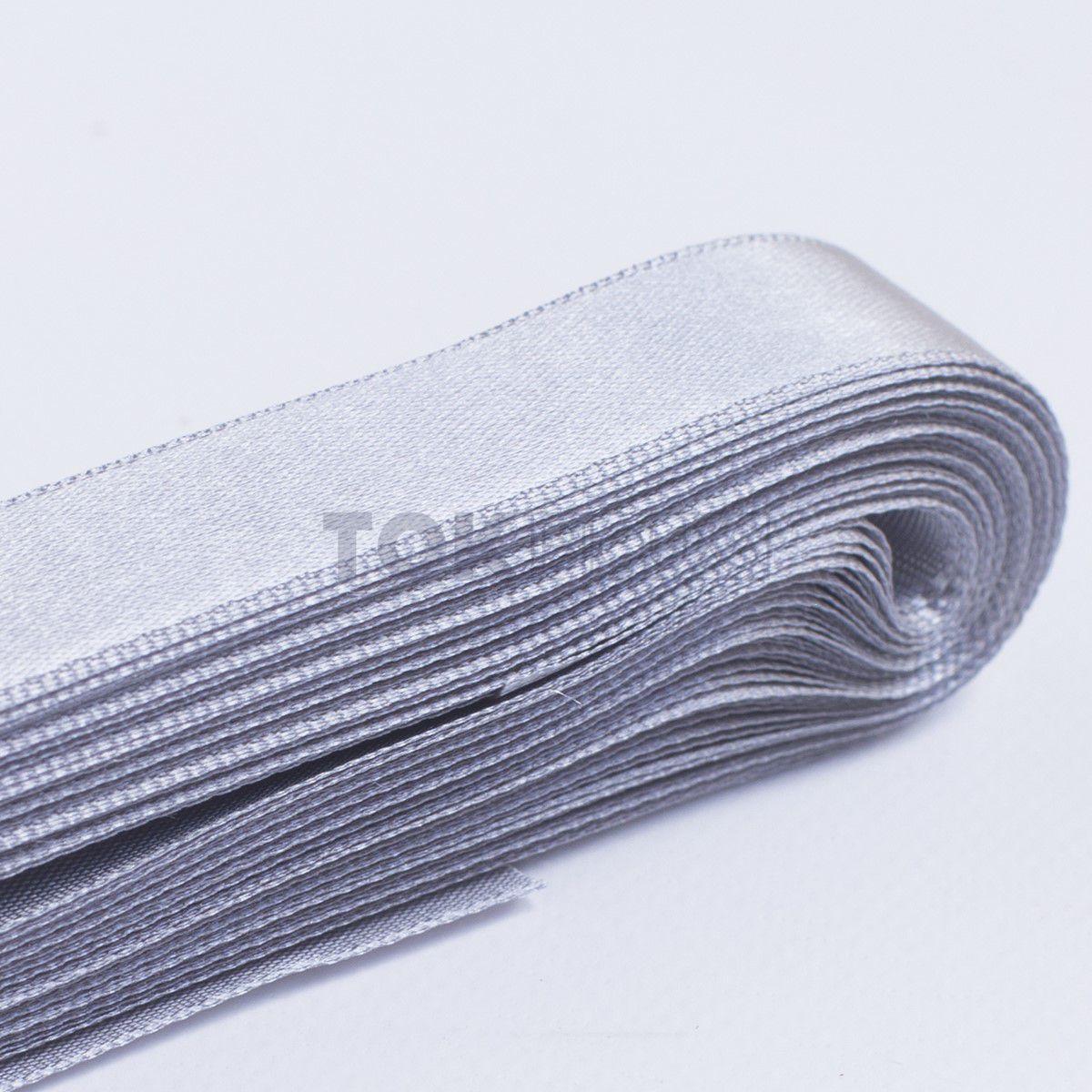 Fita Cetim N.2 - 10mm - 10 Metros - COR (24) Prata