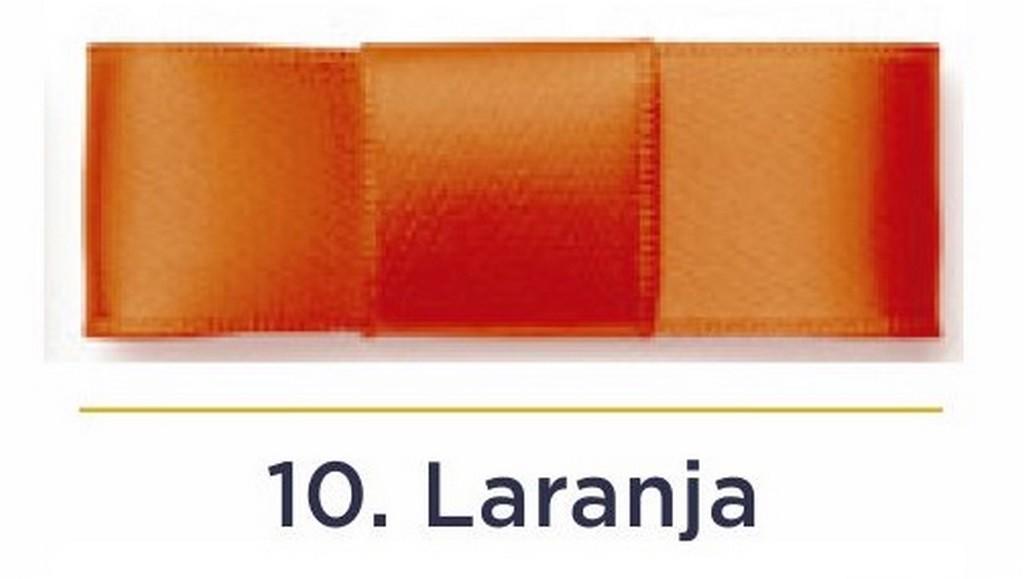 Fita Cetim N.2 - 10mm - 50 Metros - COR (10) Laranja