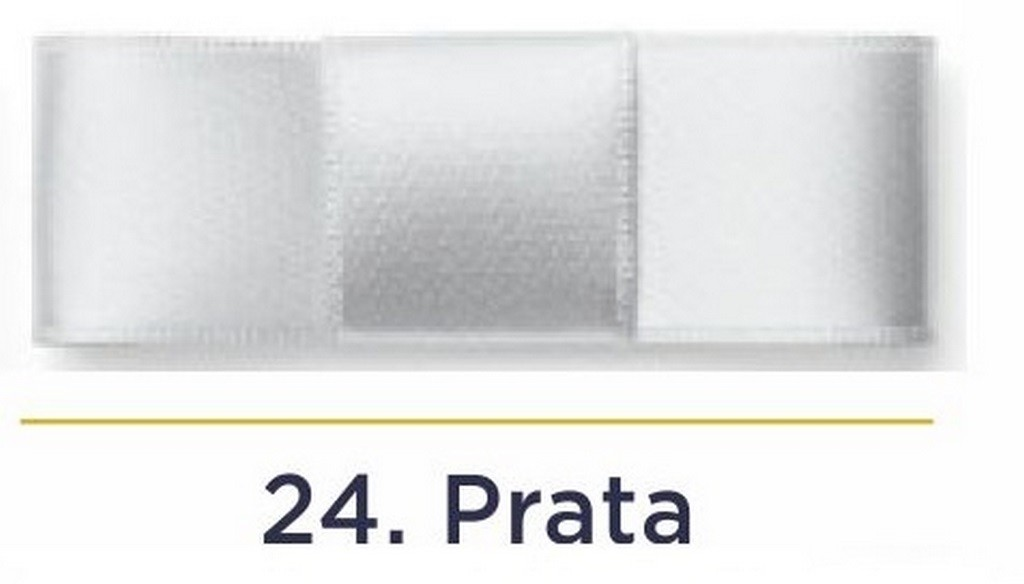 Fita Cetim N.2 - 10mm - 50 Metros - COR (24) Prata