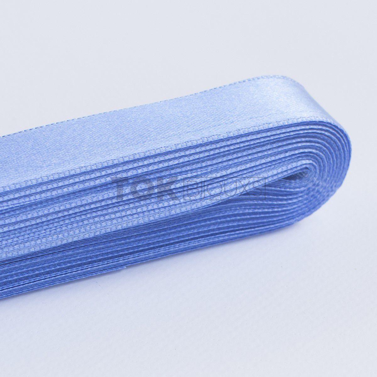 Fita Cetim N.3 - 15mm - 10 Metros - COR (12) Azul Médio